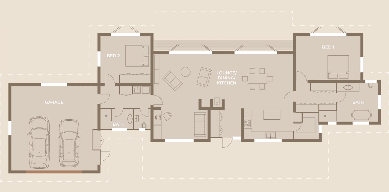 Rustic Dream Home - Floor Plans